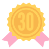 Congratulations! You've earned a badge for completing thirty masterclasses.