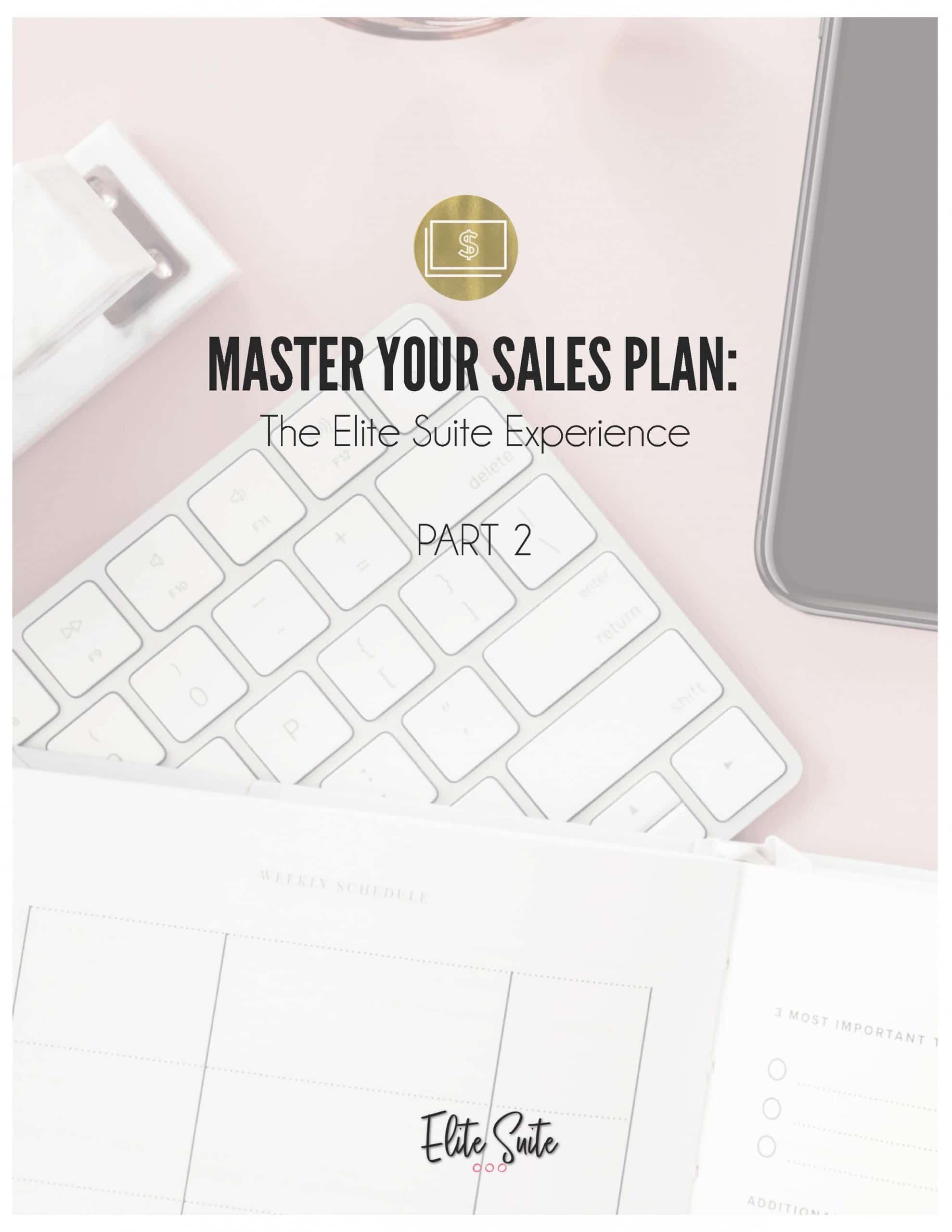 Master Your Sales Plan - Part 2 - Workbook