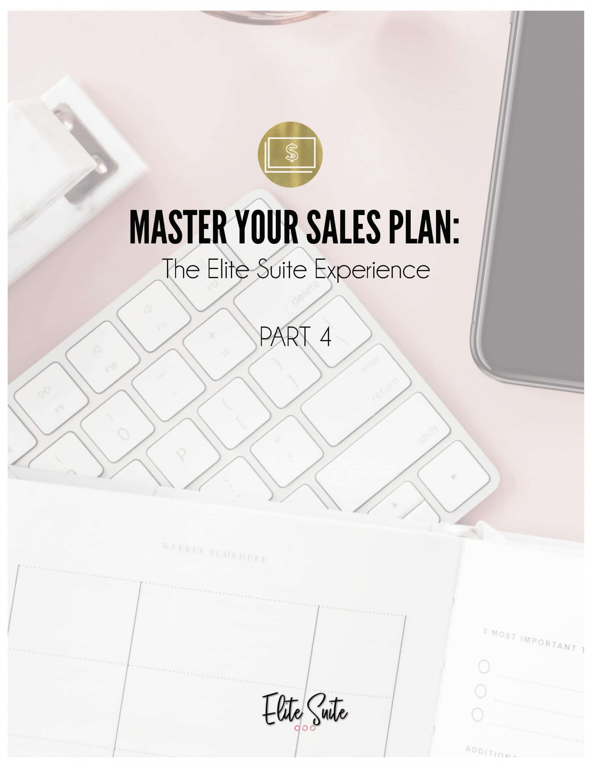 Master Your Sales Plan - Part 4 - Worksheet