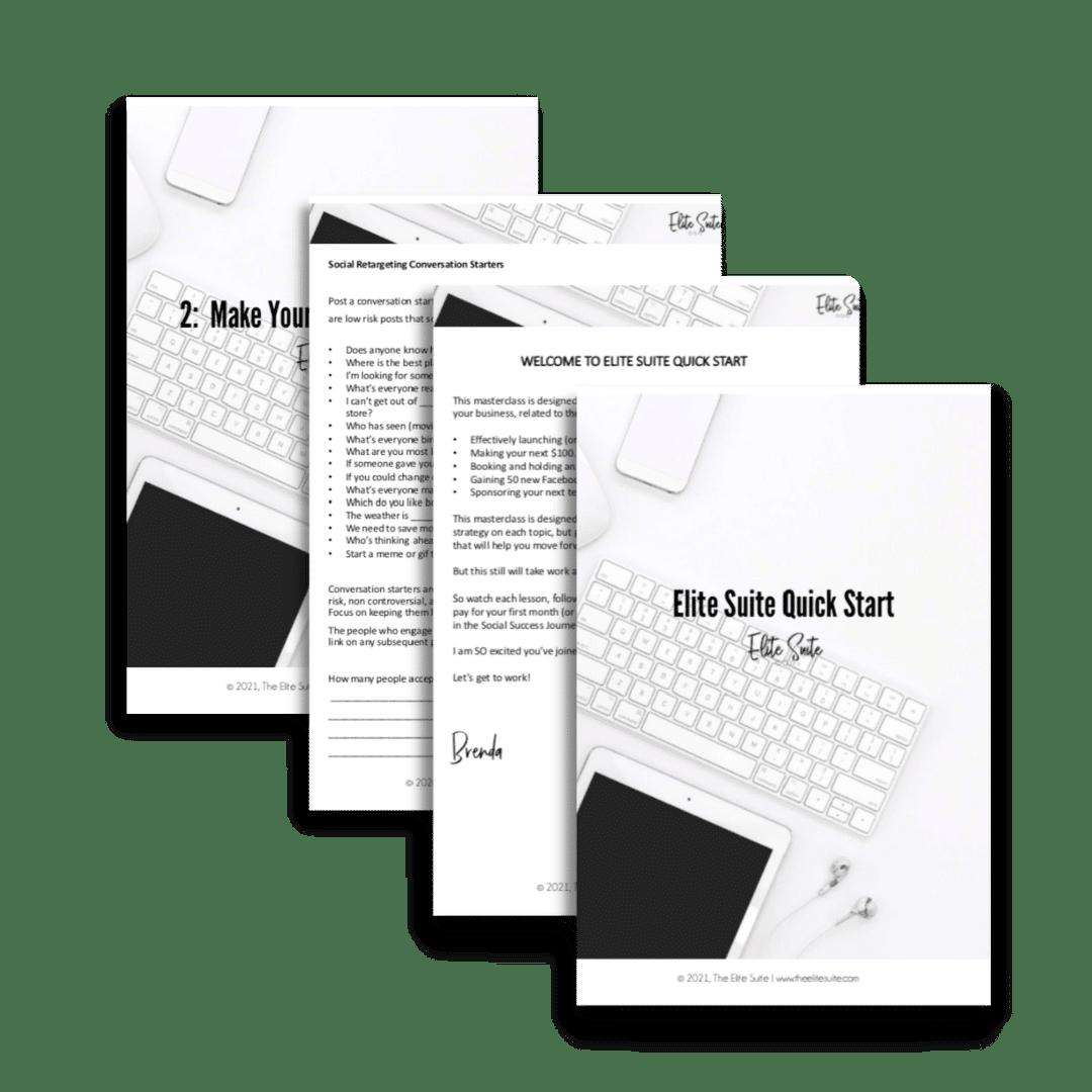 Elite Suite Quick Start Mockup